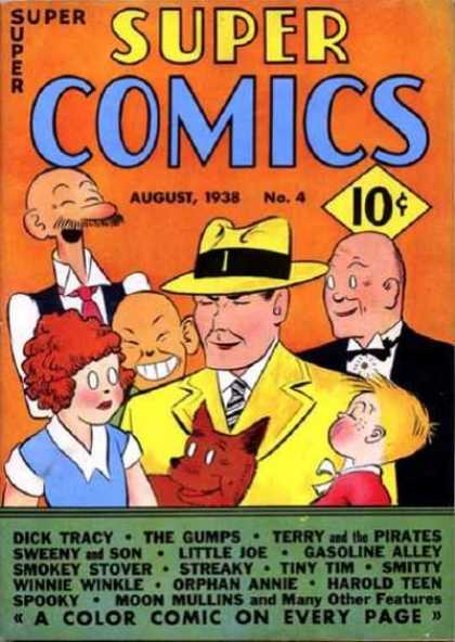 Super Comics 4 - Orphan Annie - Dick Tracy - Daddy Warbucks - Wimpy - Dog