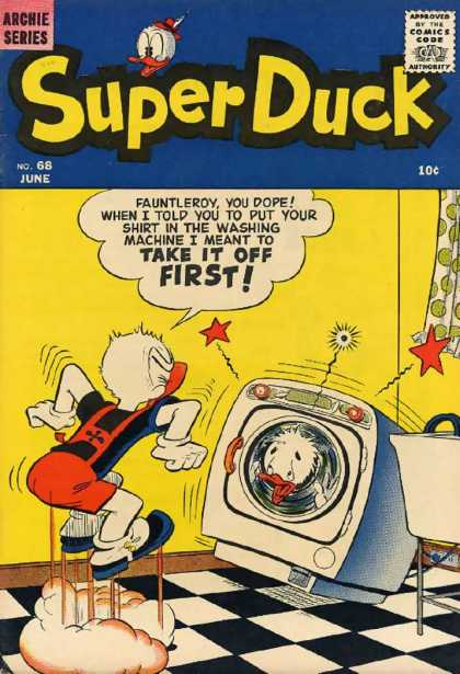 Super Duck 68 - Archie Series - Comics Code - When I Told - Take It Off First - I Meant To
