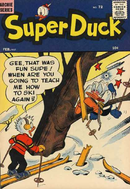 Super Duck 72 - Archie - Archie Comics - Duck - Skiing - Snow