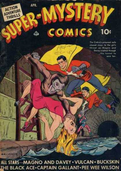 Super-Mystery Comics 13 - Fly - Cope - Legs - Lady - Hair