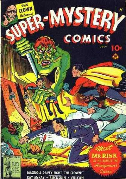 Super-Mystery Comics 14 - July - The Clown Returns - Meet Mr Risk - Superman - Magno U0026 Davey Fight The Clown