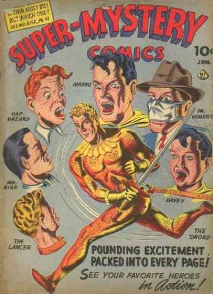 Super-Mystery Comics 19 - The Sword - The Lancer - Dr Nemesis - Shocked - Nagno