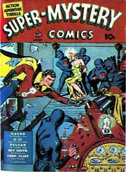 Super-Mystery Comics 2 - Action Adventure - Mystery - Magno - Kidnapping - Vulcan