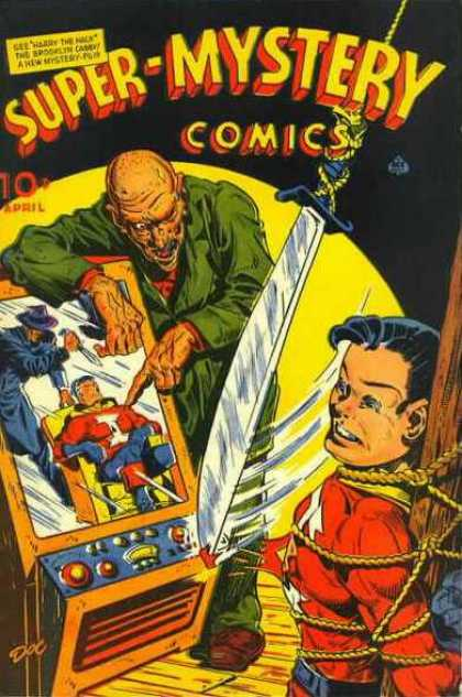 Super-Mystery Comics 29 - Before Death - Evil Man - Victim - Superheroe - Somebody Save Me