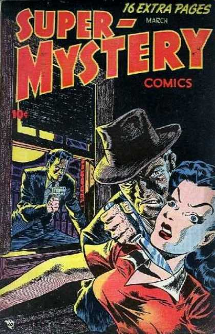 Super-Mystery Comics 40 - Knife - Gun - Slice - Detective - March