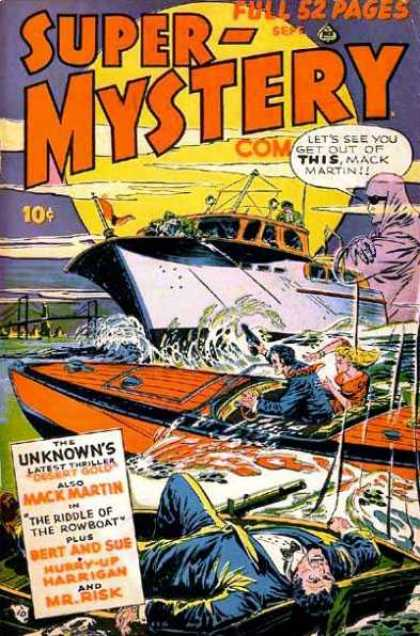 Super-Mystery Comics 43 - Boats - The Riddle Of The Rowboat - The Unknowns - Mack Martin - Bridge