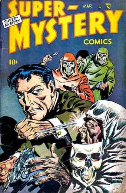 Super-Mystery Comics 46 - Skeleton Mask - Punch - Robes - Man - 10 Cents