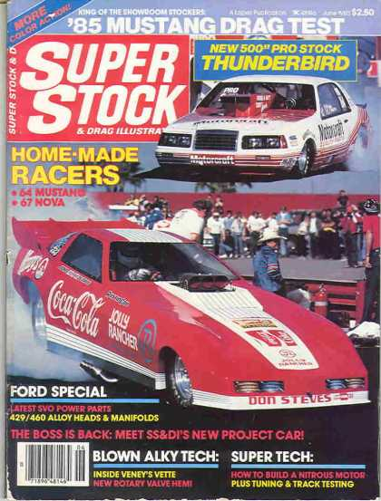 Super Stock & Dragster Illustrated - June 1985