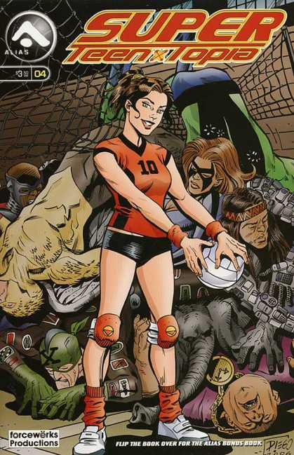 Super Teen-Topia 4 - Volleyball Mania - A Perfect 10 - Wanna Play - Spiking The Bad Guys - Serving Justice