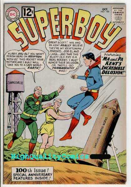 Superboy 100 - Water Tower - Kent - Smallville - Ma - Bill Sienkiewicz, Curt Swan