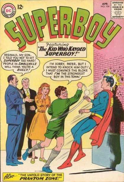 Superboy 104 - Punch - Reginald - Fight - Superboy - Phantom Zone - Curt Swan