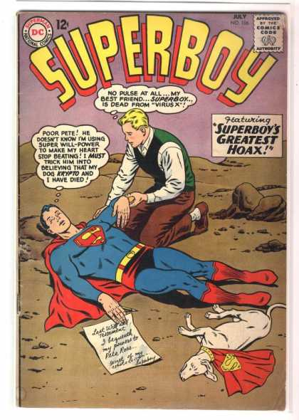 Superboy 106 - Virus X - Dead - Krypto - Curt Swan