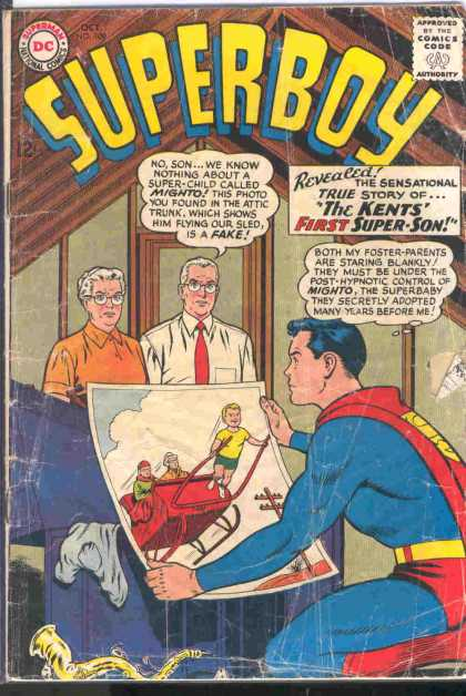 Superboy 108 - Kents - Mighto - Superman - Post-hypnotic - Super Baby - Curt Swan