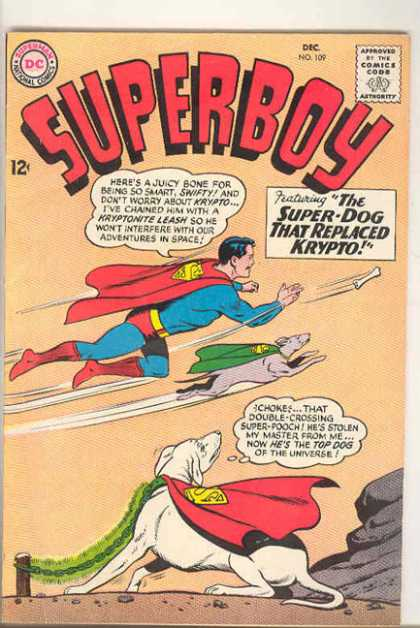 Superboy 109 - Krypto - Bone - Flying - Dog - Super-dog - Curt Swan, Sheldon Moldoff