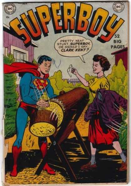 Superboy 11 - Clark Kent - Wood - Log - Superman - Glasses - Kevin Maguire, Tom Grummett