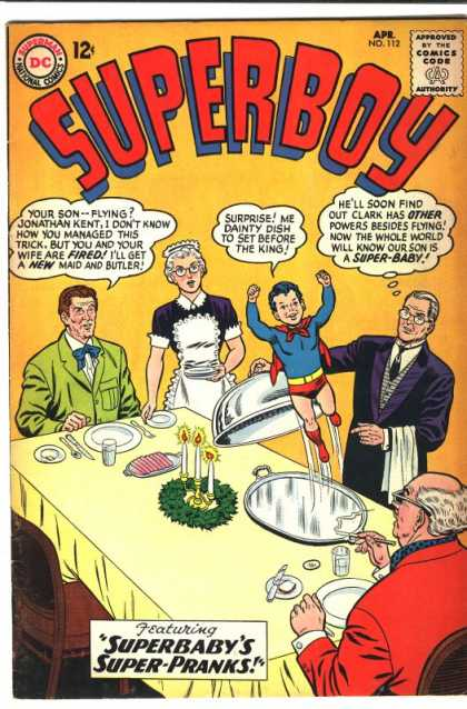 Superboy 112 - Dont Eat Superboy - Super Pranks - Little Imp - The Secret Revealed - Super Potty Trained - Curt Swan