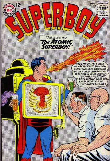 Superboy 115 - X-ray - Scientists - Chemicals - Fire - Explosion - Curt Swan