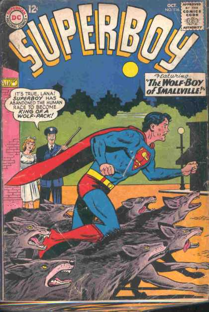 Superboy 116 - Wolves - Wolf - Lana Lang - The Wolf-boy Of Smallville - Park - Curt Swan, Sheldon Moldoff