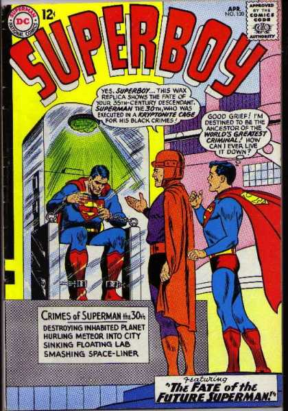 Superboy 120 - Superman - Wax - Crimes - Future - Green Light - Curt Swan, Sheldon Moldoff