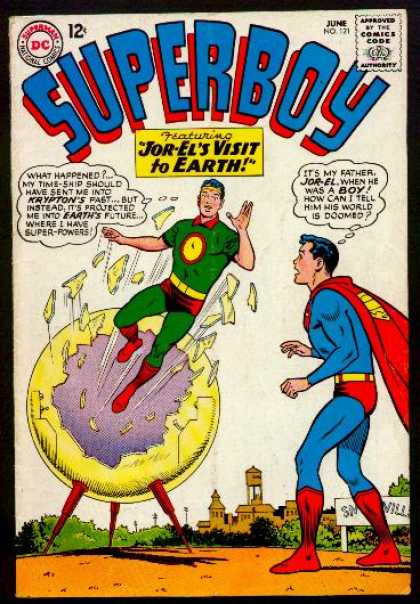 Superboy 121 - Jor-el - Krypton - Jor-els Visit To Earth - Superman - June No 21 - Curt Swan