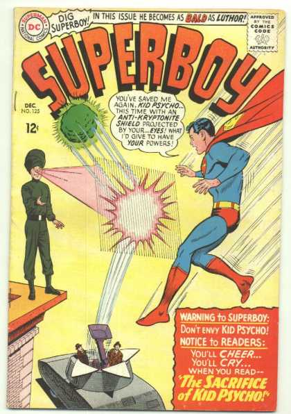 Superboy 125 - Kid Psycho - Kryptonite - Curt Swan