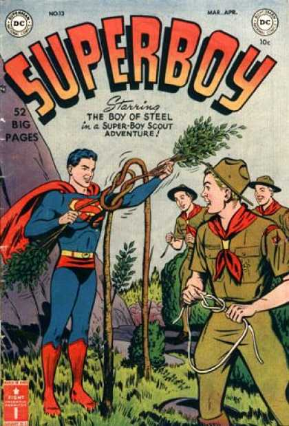 Superboy 13 - Rope - Knot - Dc Comics - Tree Branch - Rock - Tom Grummett, Ty Templeton