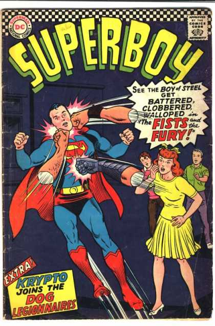 Superboy 131 - Boy Of Steel - The Fists And The Fury - Walloped - Clobbered - Battered - Curt Swan