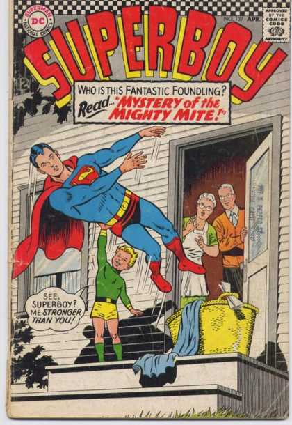 Superboy 137 - Parents - Laundry - Mighty Mite - Ma Kent - Pa Kent - Curt Swan