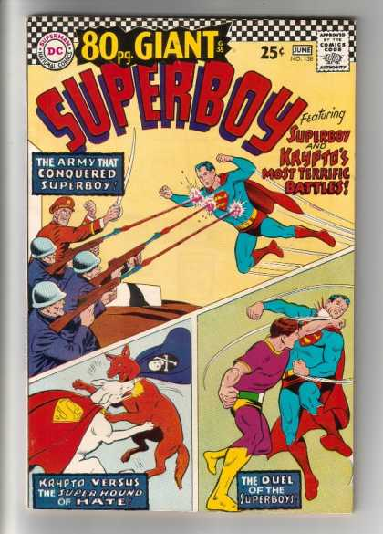 Superboy 138 - Army - Rifle - Punch - Dogfight - Fight - Curt Swan
