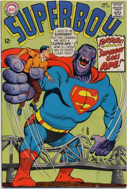 Superboy 142 - Ape - Bridge - Gorilla - Super-ape - Curt Swan
