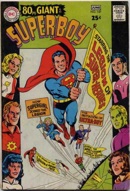 Superboy 147 - Saturn Girl - Brainiac 5 - Supergirl - Sun Boy - Legion Of Super-heroes - Curt Swan, Neal Adams
