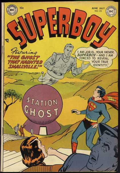 Superboy 20 - Ghost - Jor-el - Station - Smallville - Superman - Kevin Maguire, Tom Grummett