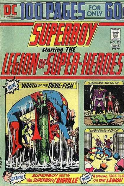 Superboy - Legion of Super-Heroes - 100 Pages - Dc - Wrath Of The Devil-fish - Legionnaire Who Killed - Super-stalag Of Space - Nick Cardy