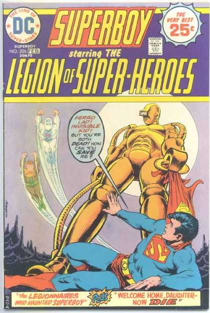 Superboy - Legion of Super-Heroes - Ferro Lad - Invisible Kid - Nick Cardy