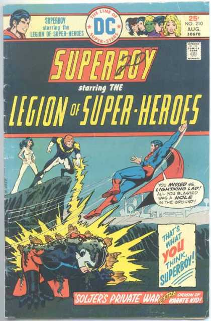 Superboy - Legion of Super-Heroes - Lightning Lad - Soljer - Lightning - Hole - Mike Grell