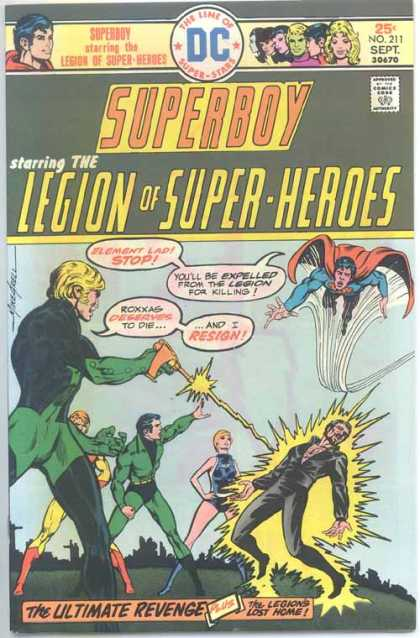 Superboy - Legion of Super-Heroes - Element Lad - Roxxas - Mike Grell