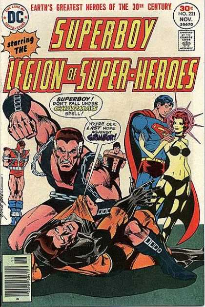 Superboy - Legion of Super-Heroes - Grimbor - Charma - Superman - Dc Comics - Legion Of Super Heros - Mike Grell
