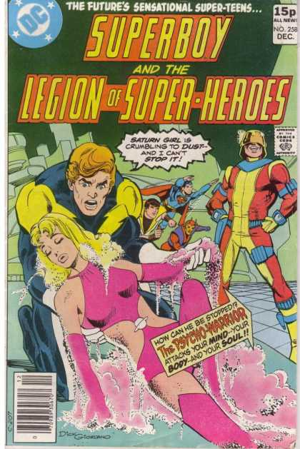 Superboy - Legion of Super-Heroes - The Futures Sensational Super-teens - The Psycwo-warrior - Many Superman - One Lady Sleeping - One Man Toutch The Lady - Dick Giordano