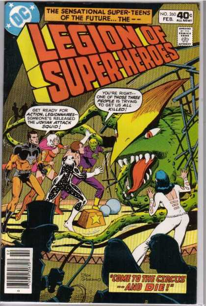 Superboy - Legion of Super-Heroes - All New - Approved By The Comics Code - Mutant - Superhero - Come To The Circus -- And Die