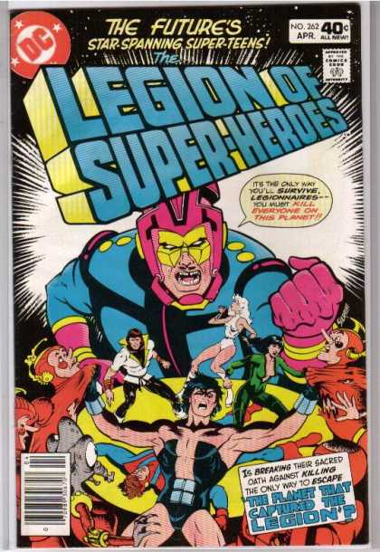 Superboy - Legion of Super-Heroes - The Futures Star-spanning Super-teens - No 262 Apr - Kill Everyone On The Planet - Legionnaires - Chaos
