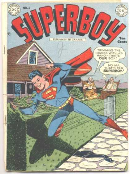Superboy 3 - Ma Kent - Pa Kent - Hedge - Trimming - Hedges - Kevin Maguire, Tom Grummett