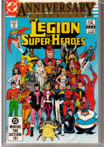 Superboy - Legion of Super-Heroes - Superman - Where The Action Is - The Legion Of Super Heroes - Flying - Lots Of People