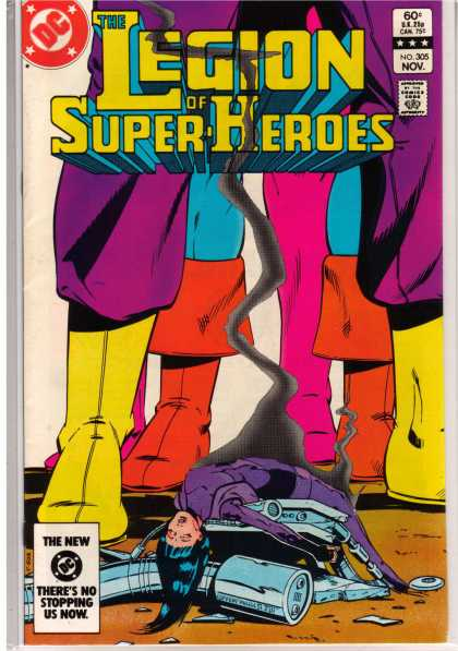 Superboy - Legion of Super-Heroes - Boots - Miniature - Doll-sized - Smoking - Rubble