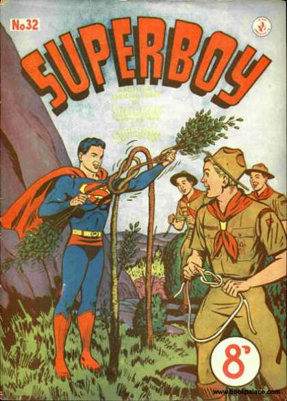 Superboy 32 - Knot - Boy Scouts - Superman - Scouts - Tree - Curt Swan