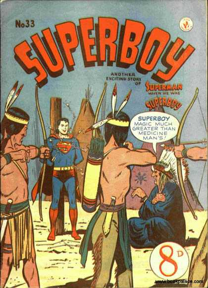 Superboy 33 - Indians - Teepee - Indian - Classic Superman - Western Adventure - Curt Swan