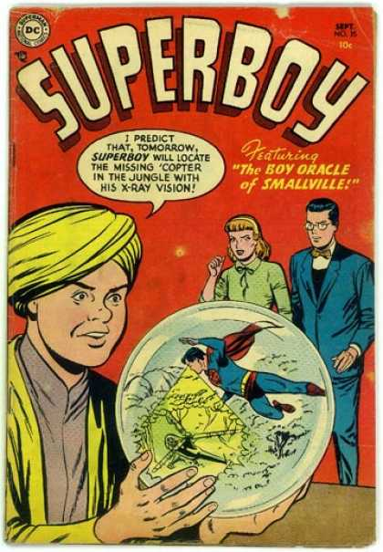 Superboy 35 - Crystal Ball - Clark Kent - Glass Ball - Parents - Superman