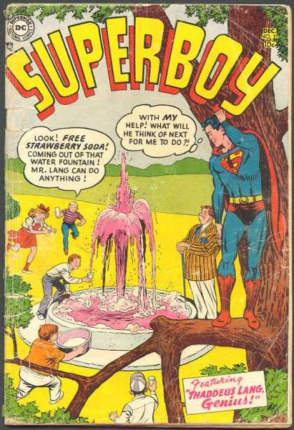 Superboy 37 - Thaddeus Lang - Strawberry Soda - Kids - Fountain - Pink - Curt Swan