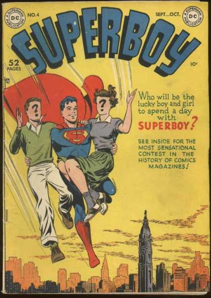 Superboy 4 - Question Mark - Look Its A Bird Its A Plane - Faster Then A Speeding Bullet - Child - Cape - Kevin Maguire, Tom Grummett