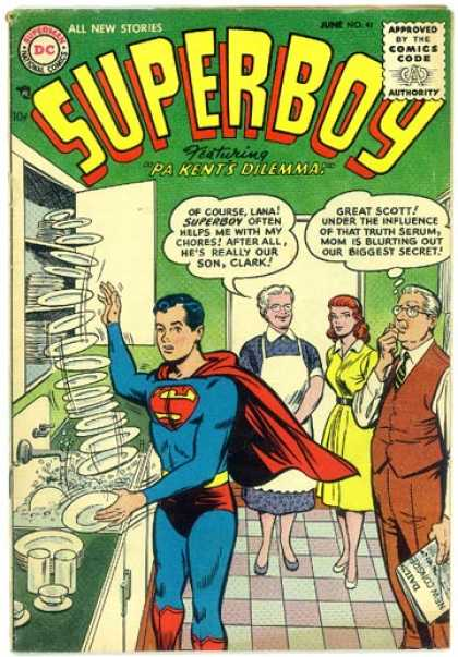 Superboy 41 - Dishes - Plates - Lana Lang