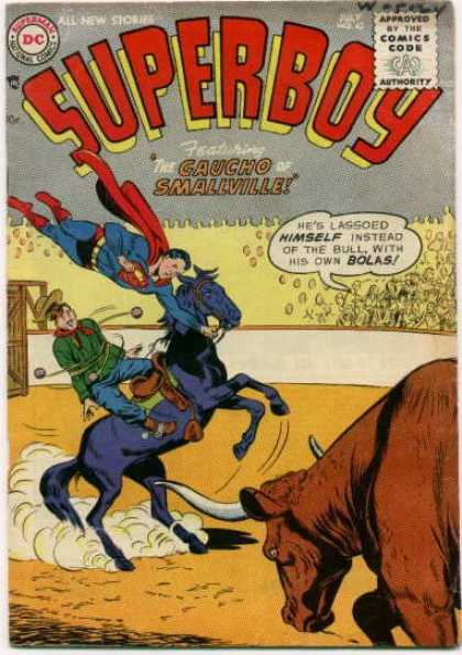 Superboy 42 - Bull - Gaucho - Horse - Rodeo - Smallville - Curt Swan